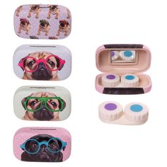 Cute+Pug+Contact+Lenses+Case