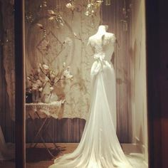 Stephanie Made to Measure bridal dress in our spring window display