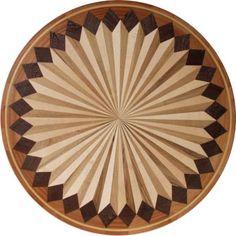 "Compass Fan 36"" Medallion Wood Inlay Maple,Oak, Wenge, Sapele $825.00"