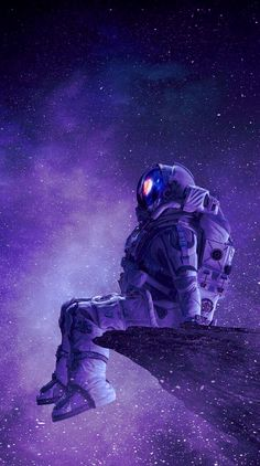 💜 My Positive Look 💜 Cute Galaxy Wallpaper, Planets Wallpaper, Wallpaper Space, Dark Wallpaper, Wallpaper Backgrounds, Space Drawings, Space Artwork, Astronaut Wallpaper, Aesthetic Space