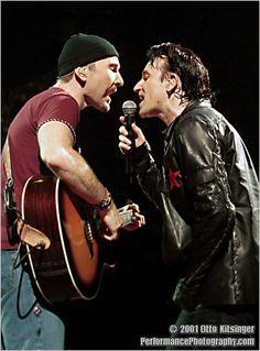 """U2 Elevation tour 2001 Arnhem.. """"Edge & Bono"""" performing """"STAY"""""""