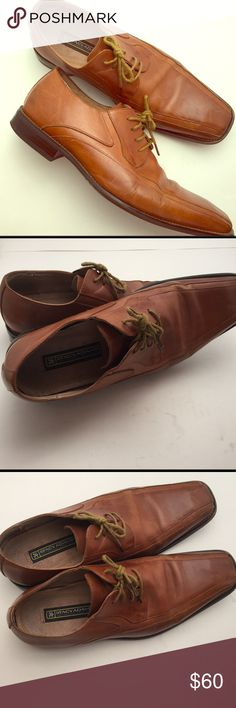 👨🏽Business Casual Shoes Brand: Stacy Adams🔹Color: Cognac🔹Size: 10.5🔹Material: Leather uppers w leather lining🔹Item Details: Double Bike Toe Lace-ups🔹History: Visible signs of wear but a good polish will have these looking nice again Stacy Adams Shoes Loafers & Slip-Ons