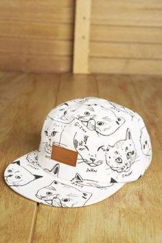 6f1dd2f57bdaf hat кепка hat snapback truckerhat funny cats cats white cap 5 panel 5 panel  cap cute