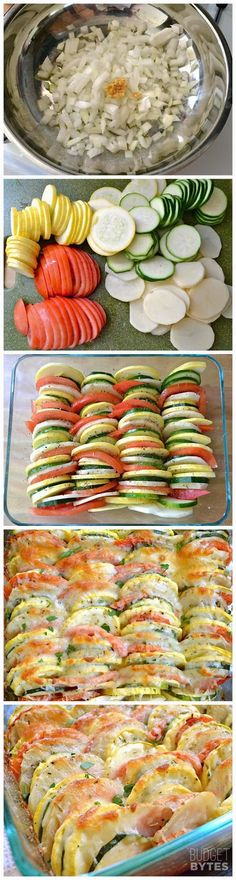 """Summer Vegetable Tian """"Looks good! I am definitely going to have to try this recipe! The post Summer Vegetable Tian appeared first on All The Food That's Fit To Eat . Vegetarian Recipes, Cooking Recipes, Healthy Recipes, Cheese Recipes, Yummy Recipes, Clean Recipes, Parmesan Recipes, Beef Recipes, Clean Foods"""