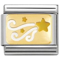 405419bd3 Nomination Ladies Composable Classic Gold White And Yellow Enamel Shooting  Star Charm