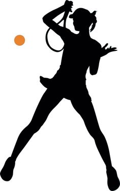 Tennis Silhouette - 13 : Custom Wall Decals, Wall Decal Art, and Wall Decal Murals | WallMonkeys.com