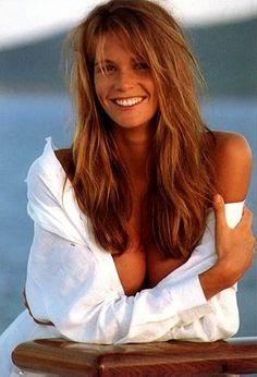 elle mcpherson circa 1991 we had similar hair, teeth, long legs i guess