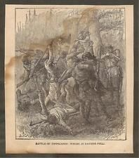 VINTAGE ILLUSTRATION -  BATTLE OF TIPPECANOE - WHERE JO DAVIESS FELL