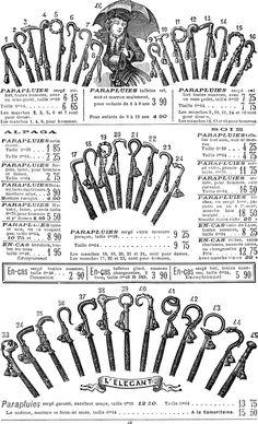 """民族衣装bot on Twitter: """"1886年、フランス、パリ、1870年設立のサマリテーヌ百貨店の夏シーズンカタログの傘のページ。 https://t.co/09VsGWXMpD"""""""
