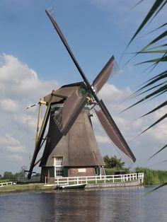 Windmill, 'De Achtkante Molen', Molendijk, Groot Ammers.