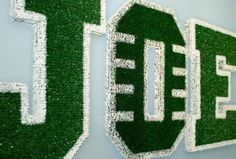 FOOTBALL FIELD Children's Custom Wall Letters by Something2BeSaid