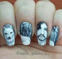 Raven Game Of Thrones Nail Art Tv Show Nail Art Pinterest Nail