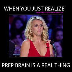Prep brain is a real thing http://www.sleekbikiniteam.com