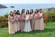 Beautiful bridesmaids at Albion River Inn.