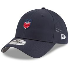 40aa01e2bea Men s US Soccer New Era Navy Micro Perf Slouch Adjustable Hat