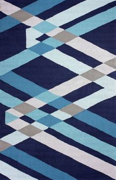 Rugs USA Radiante BC70 Blue Rug Home decor, interior design, home, house, pattern, geometric, modern, area rugs, style.