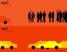 Taxi, Paris vs New York - Vahram Muratyan Paris Vs New York, New York Taxi, New Paris, New York City, Illustration Paris, Illustrations, Tour Eiffel, Nova York Poster, Nyc