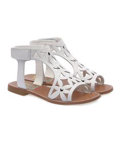 Look at this #zulilyfind! White Smooth Delmar Sandal #zulilyfinds