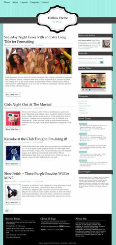 Clean and simple blog / magazine style premium WordPress child theme that works on Allure Foundation from Allure Themes