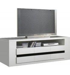 1000 ideas about meuble tv noir on pinterest porte design bangs and meubl - Meuble tv blanc et noir ...