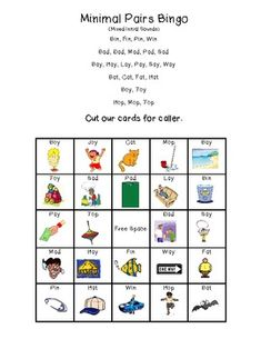 Final Consonant Deletion-Bingo Board Game-Minimal Pairs Cards ...
