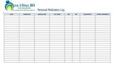 5 Best Images of Free Printable Medication Log Sheets ...   haley ...