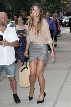 Heidi Klum returning to her hotel in NY