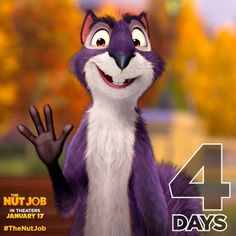Surly can count the days on one hand! See #TheNutJob on Friday >> https://www.facebook.com/TheNutJobMovie/app_532508366856543