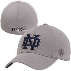 Top of the World Notre Dame Fighting Irish Enforcer Flex Hat - Gray $23.95