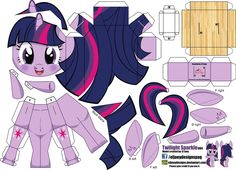 Build a Twilight My Little Pony Party, Fiesta Little Pony, All My Little Pony, My Little Pony Birthday, Twilight Sparkle, Mlp Twilight, Imagenes My Little Pony, Diy And Crafts, Paper Crafts