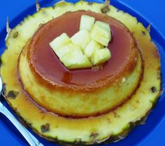Pineapple Flan (Flan de Piña) - One day, when I grow up, I'm totally going to make this!