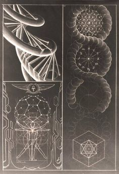 The double helix DNA spiral is one of the most important struct… Sacred Geometry. The double helix DNA spiral is one of the most important structures in life. Wicca, Magick, Golden Ratio, Crop Circles, Flower Of Life, Shapes, Drawings, Artwork, Design