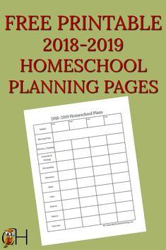 Free Printable Homeschool Kindergarten Curriculum