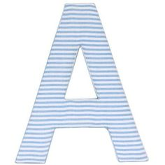 Baby Face Candy Stripe Fabric Wall Plaque Letter: Q