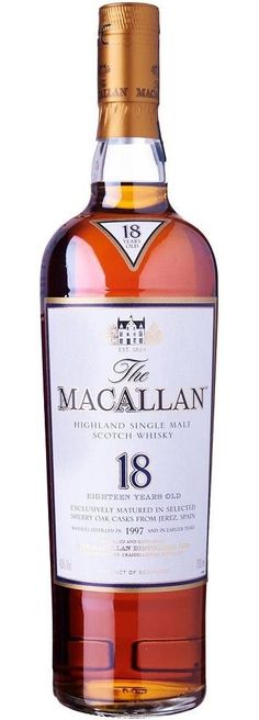 Macallan, 18 years, bot. 1997 & earlier, Speyside