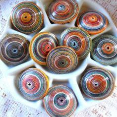 Paper Beads: Quick, Easy & Low Cost. But Don't Underestimate the Results: Large Saucer Shaped Beads