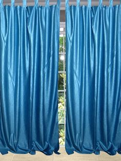 "Our curtains actually gives a great impact to get the luxurious look of a room design. Fabric: Polyester .Crinkled velvet feel solid tab top curtains Size : Width: 48"" Care Instructions: machine wash drip dry NOTE: Price is stated for (only one single panel) multiple panels are available."