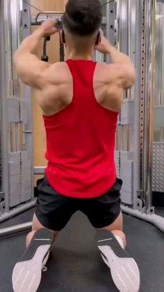 Shoulder Workouts For Men, Shoulder Workout Routine, Back Workout Routine, Best Shoulder Workout, Shoulder Gym, Fitness Workouts, Gym Workout Videos, Weight Training Workouts, Gym Workout For Beginners