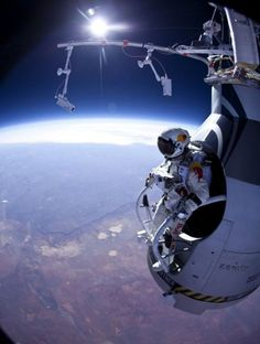 """Felix Baumgartner- one of the coolest things I have ever seen in my life """"I'm going Home"""" EPIC"""