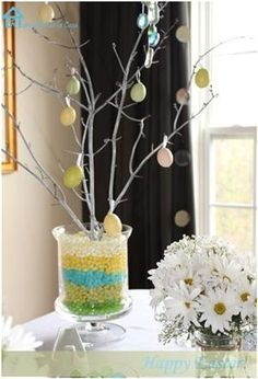 easter tree... maybe put bible verses and candy in each egg to count down to easter?