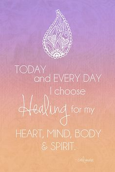 Healing Mantra by CarlyMarie. Positive Schwingungen, Positive Thoughts, Positive Vibes, Positive Changes, Positive Attitude, Attitude Quotes, Mantra, Mudras, Mind Body Soul