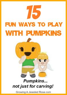 Great round up of ideas for playing with pumpkins.  Definitely get extra pumpkins this year!