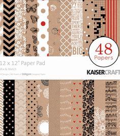 Kaisercraft Memory Lane Paper Pad 12x12 48 Pages Nini/'s Things