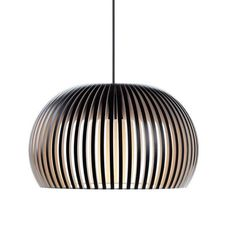 The entire Secto Design collection is designed by architect Seppo Koho and has a clear and timeless Scandinavian feel. The lamps are made of Finnish birch which gives an appealing warmth to the light. The design of the lamps is both classic and contempora Pendant Design, Lamp Design, Handmade Lamps, Led Lampe, Sofa Set, Pendant Lighting, Pendant Lamps, Chandelier, Dining Table