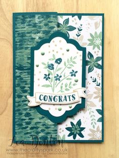 Blooms and Bliss Congratulations Card blooms and bliss congratulations island indigo join my team number of years stampin up