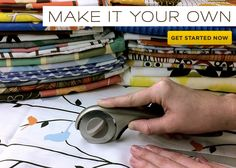 custom design your own fabric!  endless possibilies, love this!