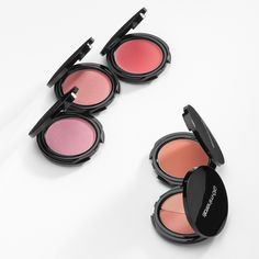 Blush: High pigment color for expert shading and highlighting. (available in 4 colors).