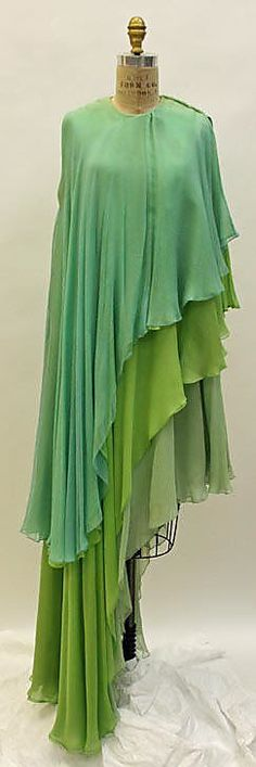 Evening Dress, Madame Grès (Alix Barton), 1960–69, French, silk