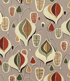 1950's textile design - if I had a house I would have cushions made out of this kind of fabric :)