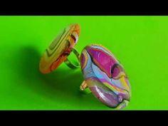 como hacer anillos llenos de color y super rapido - YouTube